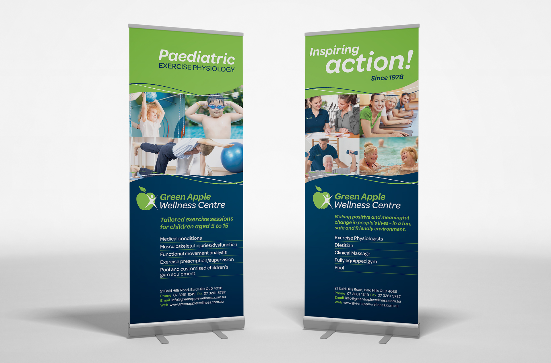 Green Apple Pull-up Banners