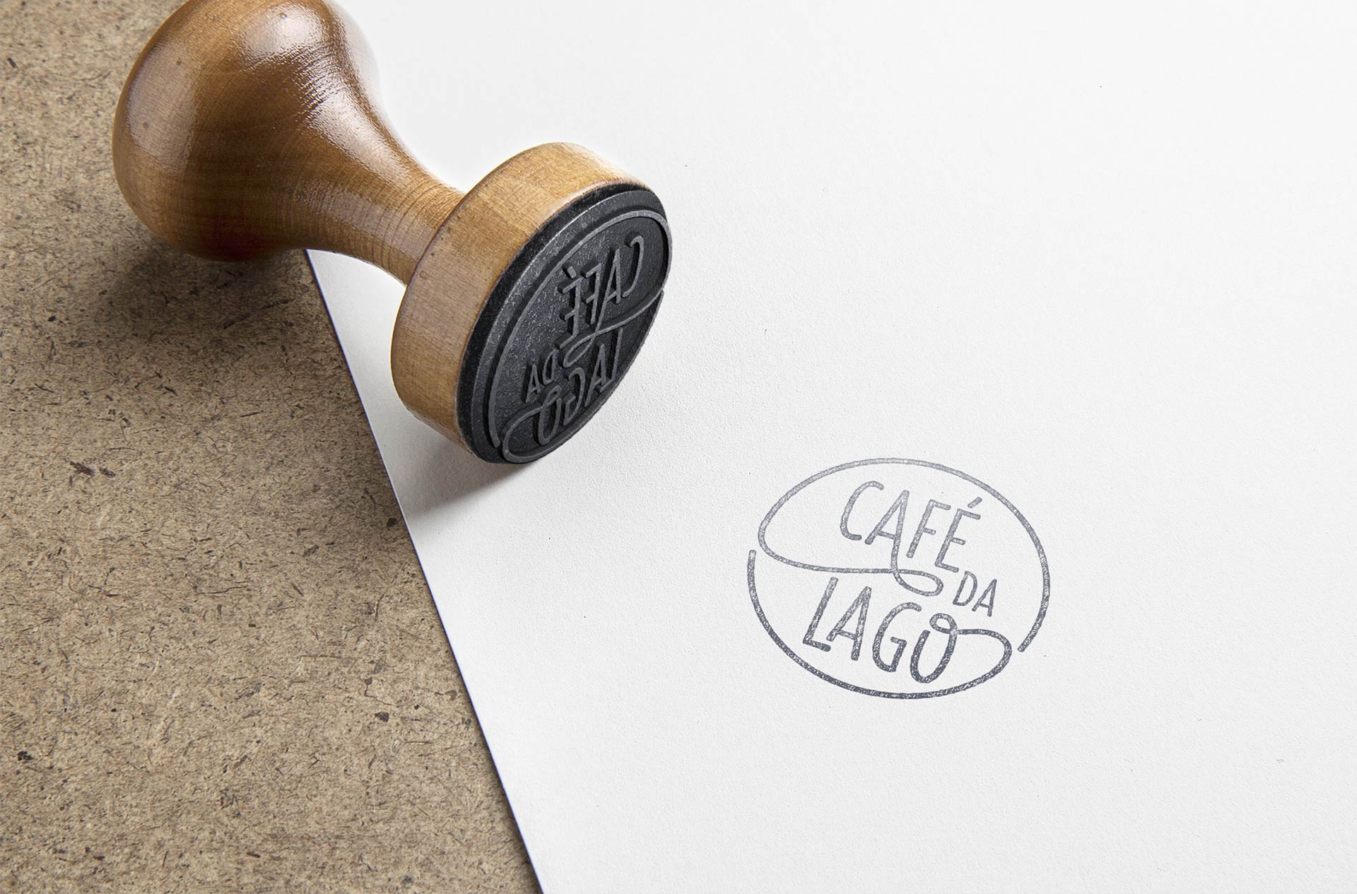 Cafe da Lago Stamp